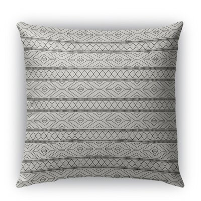 Rogers Burlap Indoor/Outdoor Throw Pillow Color: Gray, Size: 26 H x 26 W x 5 D