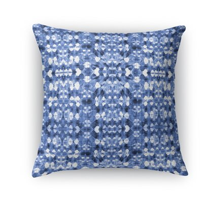 Shibori Mirror Burlap Throw Pillow Size: 16 H x 16 W x 5 D