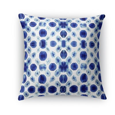 Shibori Circle Burlap Indoor/Outdoor Throw Pillow Size: 18 H x 18 W x 5 D