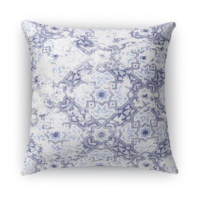 Esther Burlap Throw Pillow Size: 24 H x 24 W x 5 D, Color: Blue