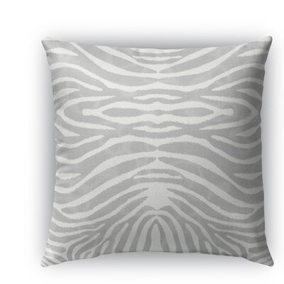 Nerbone Indoor/Outdoor Throw Pillow Size: 18 H x 18 W x 5 D, Color: Grey/ Ivory