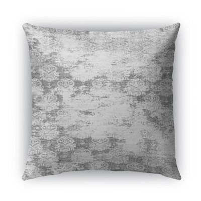 Cataleya Burlap Indoor/Outdoor Throw Pillow Size: 16 H x 16 W x 5 D, Color: Gray