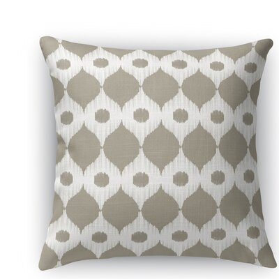 Forrest Rain Throw Pillow Size: 16 H x 16 W x 5 D, Color: Tan