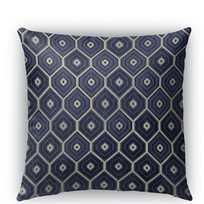 Honey Comb Indoor/Outdoor Throw Pillow Size: 16 H x 16 W x 5 D, Color: Blue