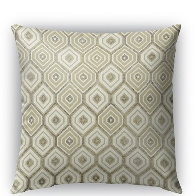 Honey Comb Indoor/Outdoor Throw Pillow Color: Gold, Size: 26 H x 26 W x 5 D