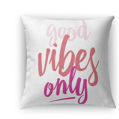 Jordyn Throw Pillow Size: 16 H x 16 W x 5 D, Color: Pink