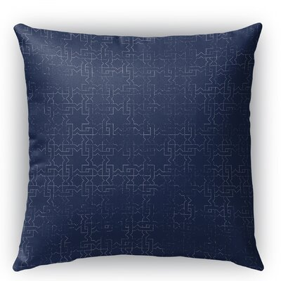 Gridlocked Burlap Indoor/Outdoor Throw Pillow Size: 26 H x 26 W x 5 D