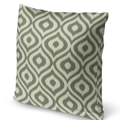 Ikat Ogee Accent Pillow Size: 16 H x 16 W x 5 D, Color: Green