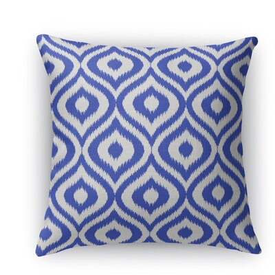 Ikat Ogee Throw Pillow Size: 24 H x 24 W x 5 D, Color: Blue