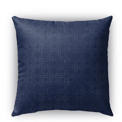 Gridlocked Burlap Indoor/Outdoor Throw Pillow Size: 16 H x 16 W x 5 D