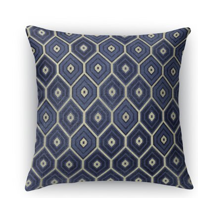 Honey Comb Throw Pillow Size: 18 H x 18 W x 5 D, Color: Blue