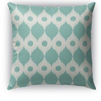Forrest Rain Burlap Indoor/Outdoor Throw Pillow Size: 18 H x 18 W x 5 D, Color: Blue