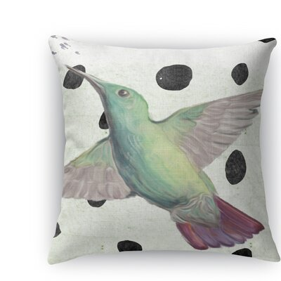 Hummingbird Throw Pillow Size: 16 H x 16 W x 5 D