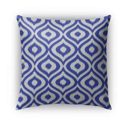 Ikat Ogee Burlap Indoor/Outdoor Throw Pillow Size: 26 H x 26 W x 5 D, Color: Blue