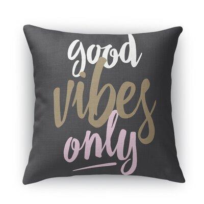 Jordyn Burlap Indoor/Outdoor Throw Pillow Size: 18 H x 18 W x 5 D, Color: Black