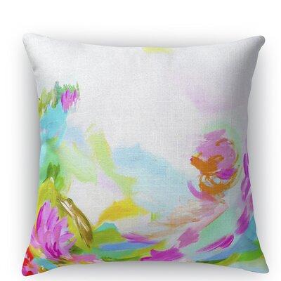 Hollyhock Burlap Indoor/Outdoor Throw Pillow Size: 18 H x 18 W x 5 D
