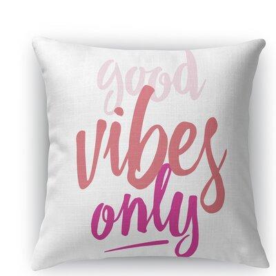 Jordyn Burlap Indoor/Outdoor Throw Pillow Size: 16 H x 16 W x 5 D, Color: Pink