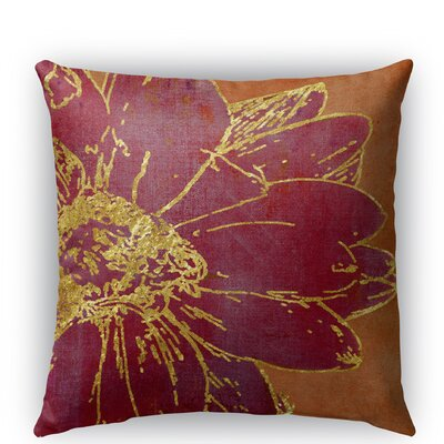 Flora Burlap Indoor/Outdoor Throw Pillow Size: 26 H x 26 W x 5 D