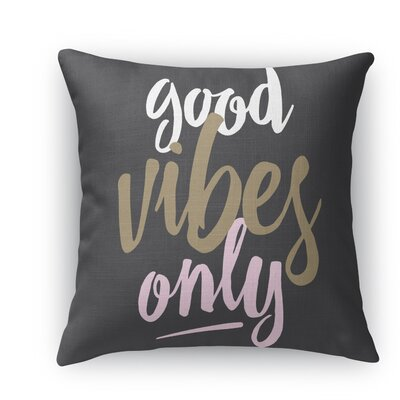 Jordyn Throw Pillow Size: 16 H x 16 W x 5 D, Color: Black