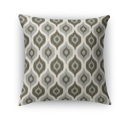 Harmony Throw Pillow Size: 18 H x 18 W x 5 D, Color: Gray