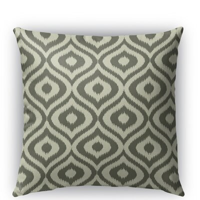Ikat Ogee Burlap Indoor/Outdoor Throw Pillow Color: Gray, Size: 20 H x 20 W x 5 D
