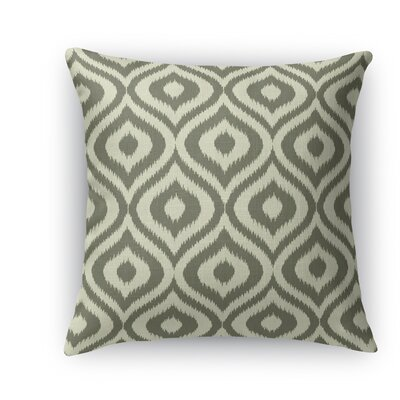 Ikat Ogee Throw Pillow Color: Gray, Size: 18 H x 18 W x 5 D