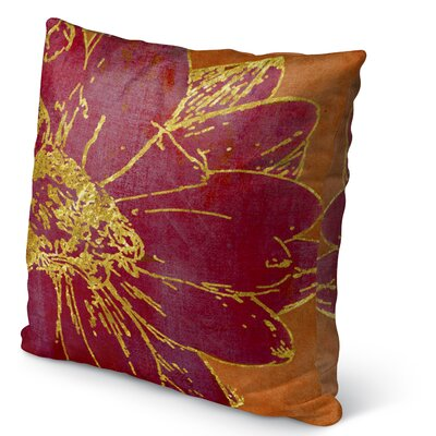 Flora Burlap Indoor/Outdoor Pillow Size: 18 H x 18 W x 5 D