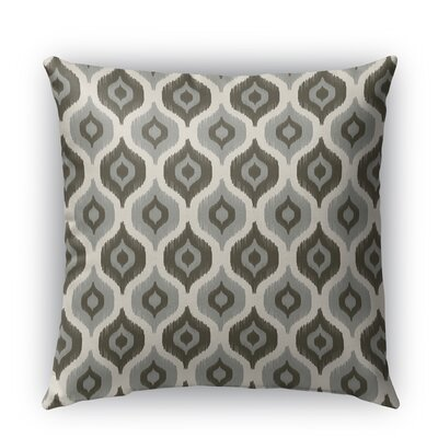 Harmony Burlap Indoor/Outdoor Throw Pillow Size: 18 H x 18 W x 5 D, Color: Gray
