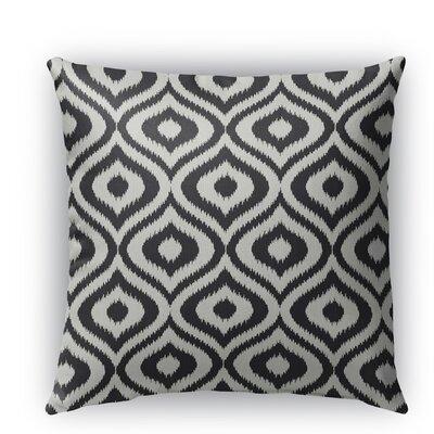 Ikat Ogee Burlap Indoor/Outdoor Throw Pillow Size: 20 H x 20 W x 5 D, Color: Black