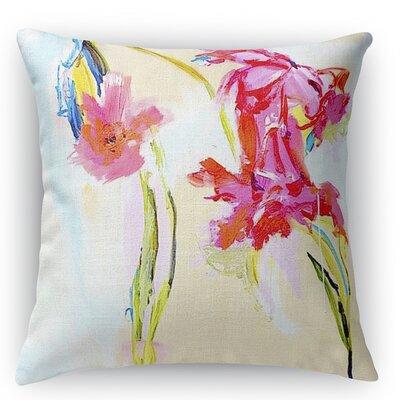 Happier Hour Burlap Indoor/Outdoor Throw Pillow Size: 26 H x 26 W x 5 D