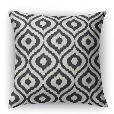 Ikat Ogee Throw Pillow Size: 18 H x 18 W x 5 D, Color: Black