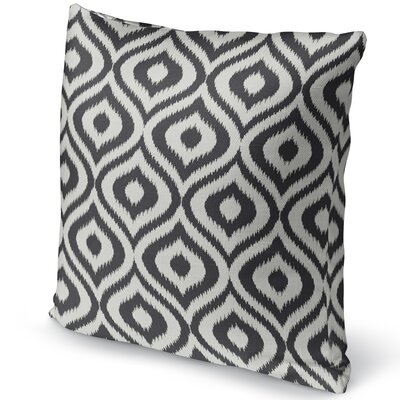Ikat Ogee Accent Pillow Size: 16 H x 16 W x 5 D, Color: Black/ Ivory