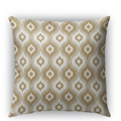 Harmony Burlap Indoor/Outdoor Throw Pillow Color: Tan, Size: 18 H x 18 W x 5 D