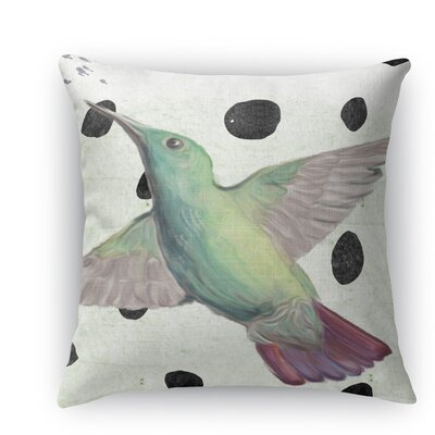 Hummingbird Burlap Indoor/Outdoor Throw Pillow Size: 26 H x 26 W x 5 D