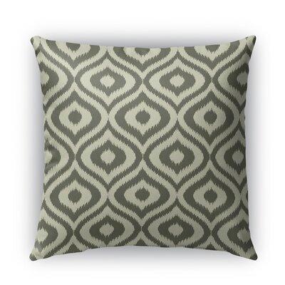 Ikat Ogee Burlap Indoor/Outdoor Throw Pillow Size: 16 H x 16 W x 5 D, Color: Gray
