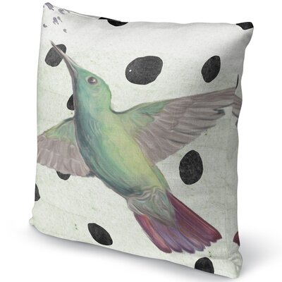 Hummingbird Burlap Indoor/Outdoor Pillow Size: 16 H x 16 W x 5 D