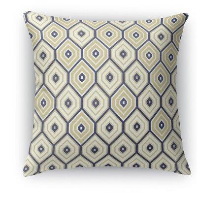 Honey Comb Throw Pillow Size: 18 H x 18 W x 5 D, Color: Gold/Blue
