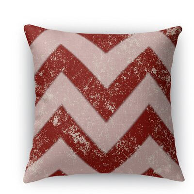 Candy Cane Chevron Throw Pillow Size: 18 H x 18 W x 5 D