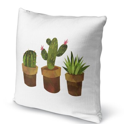 Geter Throw Pillow Size: 18 H x 18 W x 5 D