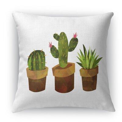 Geter Throw Pillow Size: 24 H x 24 W x 5 D