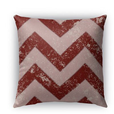 Candy Cane Chevron Indoor/Outdoor Throw Pillow Size: 26 H x 26 W x 5 D