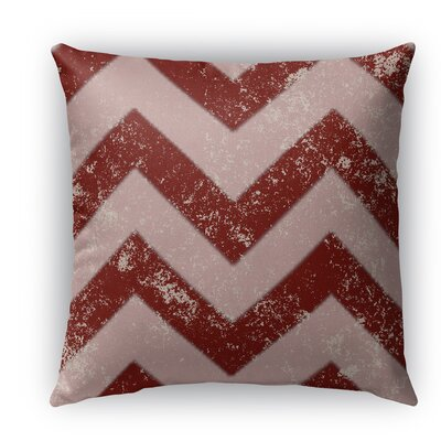 Candy Cane Chevron Burlap Indoor/Outdoor Throw Pillow Size: 16 H x 16 W x 5 D