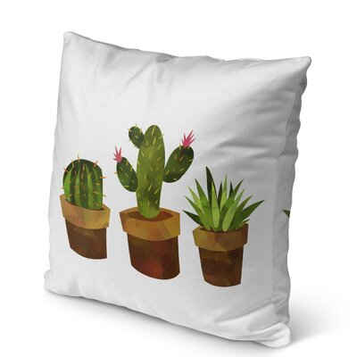 Geter Indoor/Outdoor Throw Pillow with Zipper Size: 18 H x 18 W x 5 D