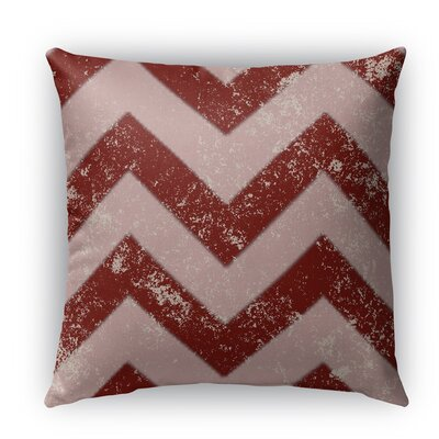 Candy Cane Chevron Indoor/Outdoor Throw Pillow with Zipper Size: 26 H x 26 W x 5 D