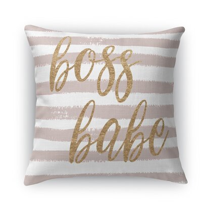 Bossbabe2 Throw Pillow Size: 24