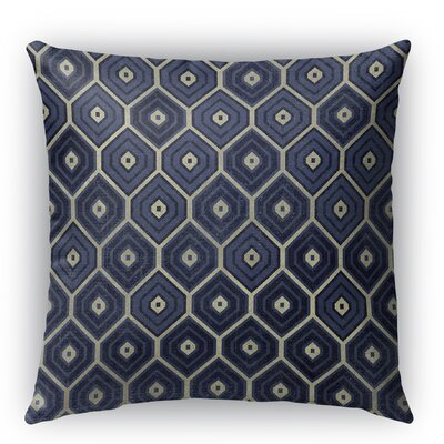 Honey Comb Burlap Indoor/Outdoor Throw Pillow Size: 26 H x 26 W x 5 D, Color: Blue
