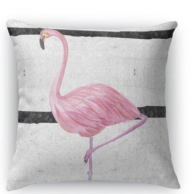 Flamingo III Throw Pillow Size: 16 H x 16 W x 5 D