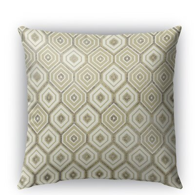 Honey Comb Burlap Indoor/Outdoor Throw Pillow Size: 16 H x 16 W x 5 D, Color: Gold
