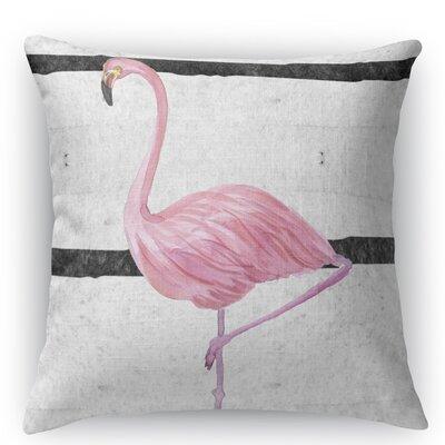 Flamingo III Burlap Indoor/Outdoor Throw Pillow Size: 18 H x 18 W x 5 D