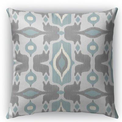 Cosmos Burlap Indoor/Outdoor Throw Pillow Size: 16 H x 16 W x 5 D, Color: Blue